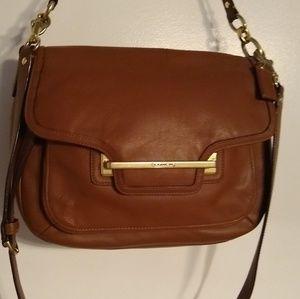 Coach leather flap crossbody/shoulder bag.